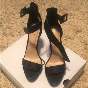ALDO platform open toe heels